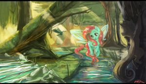 Everfree Forest  -  A Gentle Breeze by ParadoxBroken