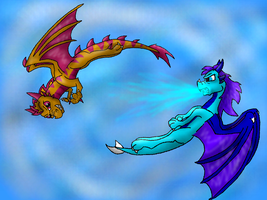 Swirling in the air by Lydiadragon