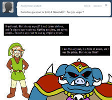Ask Link and Ganon - Virgin? by pocket-arsenal