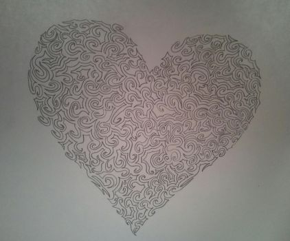 One Line Heart by Tiffwaffle