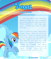 Journal skin - Rainbow Dash (Animated) - F2U by KinziKritzkrieg