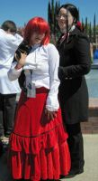 Madam Red and Grell Sutcliff by TheSapphireDragon1