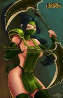 Akali League of Legends by Kyoffie12
