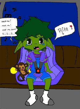 Baby Beast boy finished. by BreBre234