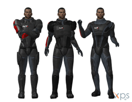 Default Manshep in ME1 N7 Armours for XPS by Just-Jasper