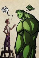 Day 21-Bruce and Hulk by G-Chris