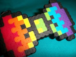 Rainbow 8 Bit Bow Re Done by GeekyGamerShop