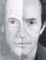 Lance Henriksen Half-Drawing Aliens by ShadowSpetsnaz