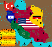 Iran Map of Occupation 2023 by IasonKeltenkreuzler