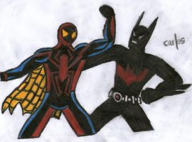 Unlimited Spider-Man vs. Batman Beyond by CAR-TACO