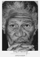 Morgan Freeman by ganita
