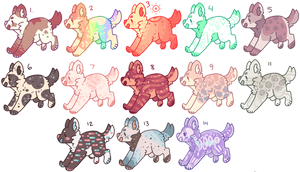 lots of puppy adopts ( 5 more left) by plantgay
