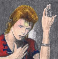 Ziggy Stardust gone Heroes by gagambo