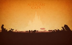 Disney African Cats Silhouettes by Samoht-Lion