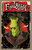 Frankenstein-Comic Book Cover by 4gottenlore