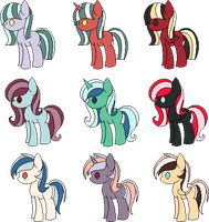 CLOSED -  Pony Batch #1 by Br0kenP0nies