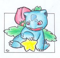 Star - Ivysaur .:colour:. by Fluna