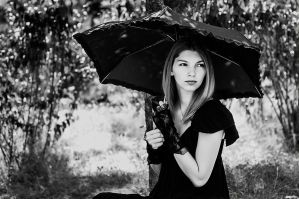 Rain in Black by kokdemir