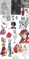 Scribbles and Stuff by Napalm-Otaku