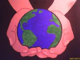 The world is in our hands painting by 13MusicRox13