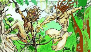 Tarzan Meets Jungle Girl by nev777