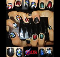 Zelda Nail Art by trentsxwife