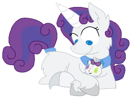 Rarity and Opal by StarryOak