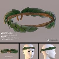 Laurel Wreath (free 3D model) by LuxXeon