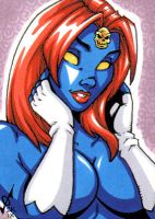 Sketch Card - Mystique by gb2k