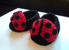 ladybug slippers by Brookette