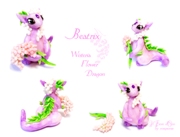 Beatrix, Wisteria Flower dragon 2 by rosepeonie