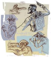 TF2 Sketches by TheMinttu
