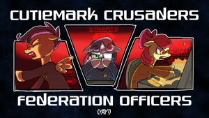 Cutiemark Crusaders Federation Officers Yay! by bwfe