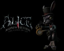 Alice Madness Returns Rabbit Wallpaper by flivoreux