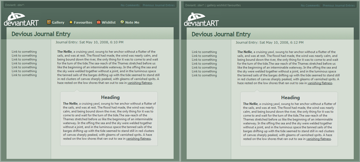 The First dA v6 Journal CSS by jimmy-tm