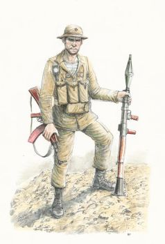 Russian soldier in Afghanistan color by JesusFood