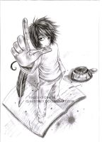 'l' from Death Note by Claudiney