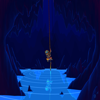 Cave Spelunking by Fish-Box