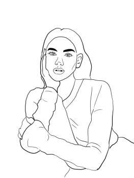 Dua Lipa Lineart by Netriss