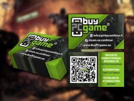 BuyPCgame.eu Business card design V1 by fantoNN