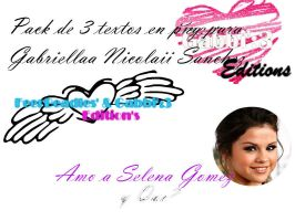 Pack de textos png para Gabriellaa Nicolaii Sanche by BeliebersEditions