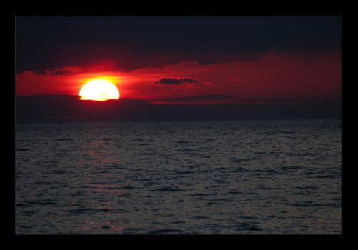 Sunset over Lake Superior by JohnVbs