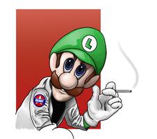 Luigi's Death Stare by capuchino64