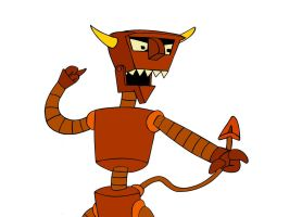 Futurama - The Robot Devil (Coloured) by RobotHellboy1114
