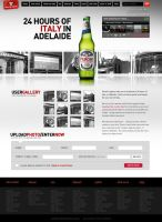 Peroni Beer win page by scottrichardson