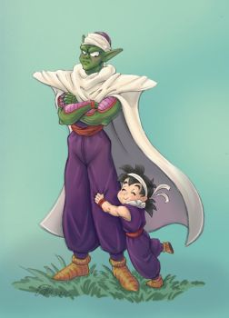 Gohan loves Mr Piccolo by COOKEcakes