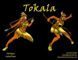 Action Pose Layout 2 Tokala by Velairennil