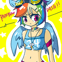 gijinka rainbow dash by matcharoll