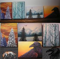 nature acrylic set :B by Wolveslair