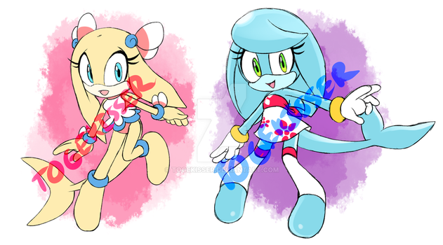 CLOSED Paypal Adoptable - Dolphin Girls by Togekisser